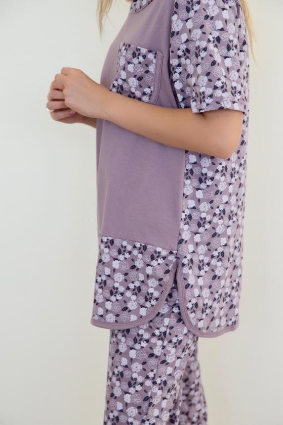 Пижама женская Цветочек Арт. 7624