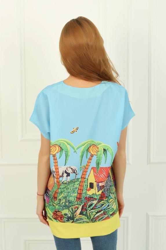 Блуза Тропикана Арт. 3796