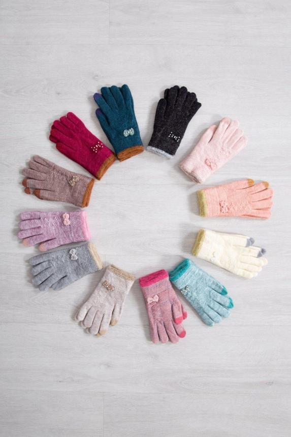 Перчатки Сенсорные женские из ангоры Арт. 4194
