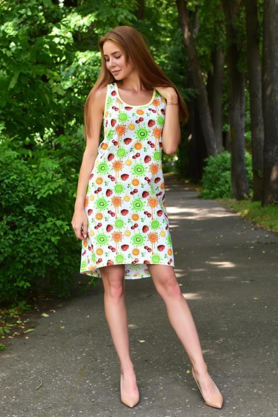 Платье домашнее Фруктовый сад Арт. 5035